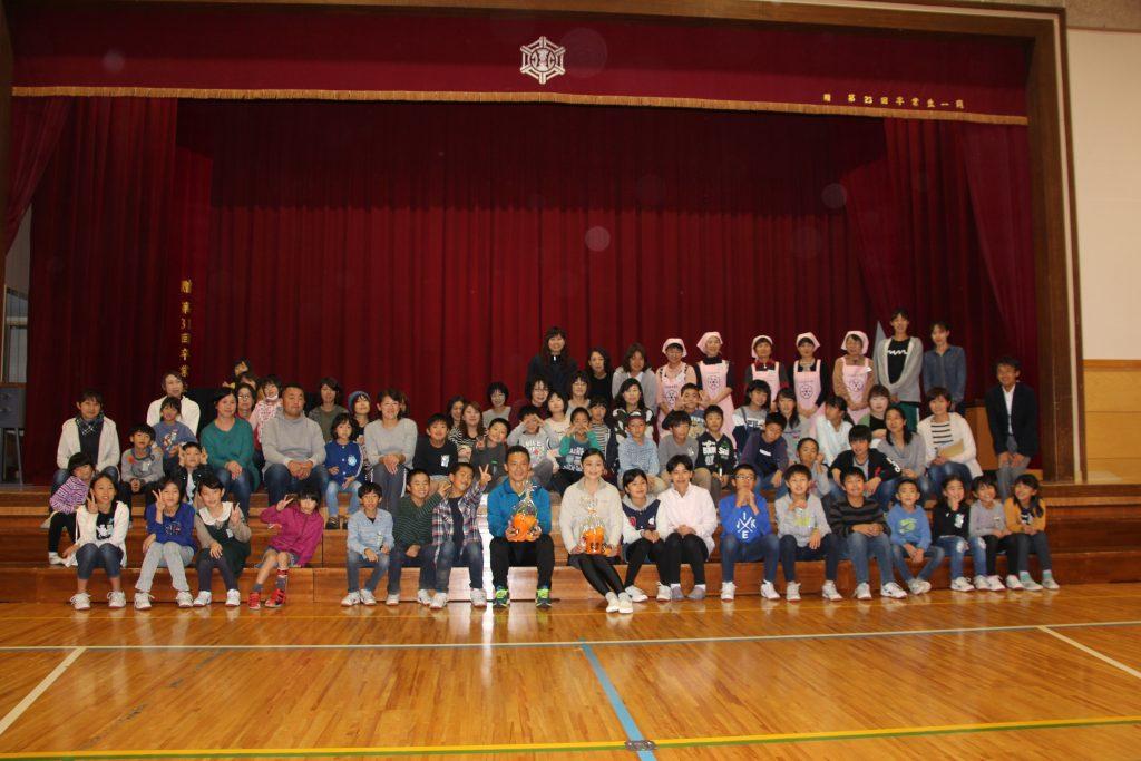 巻北小学校PTAイベントにて,にしかん健康プロジェクトを実施しました