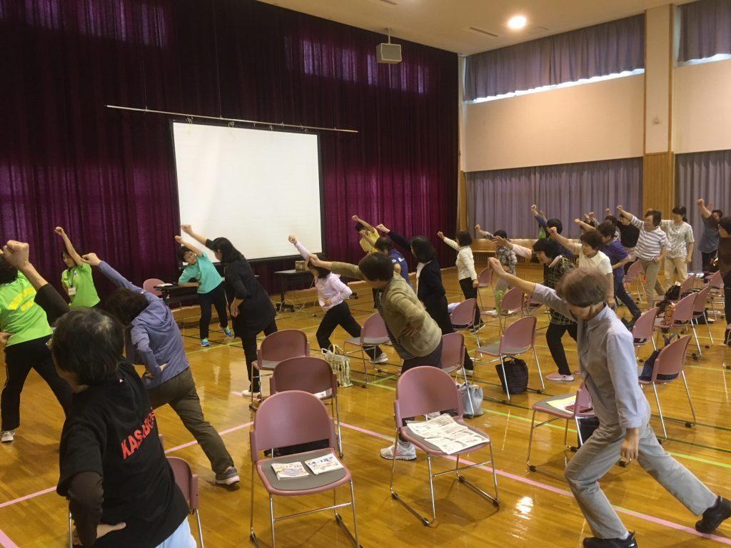 「からだ測定!運動教室」でにしかんみんなの体操を実施しました!