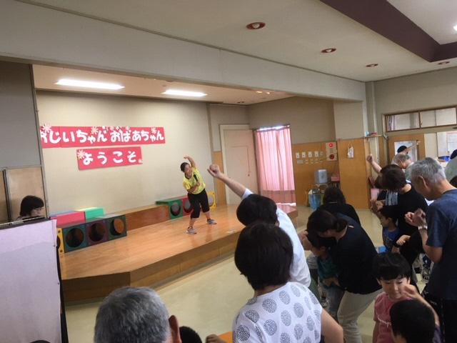 巻保育園祖父母ふれあい会でにしかんみんなの体操を実施しました!