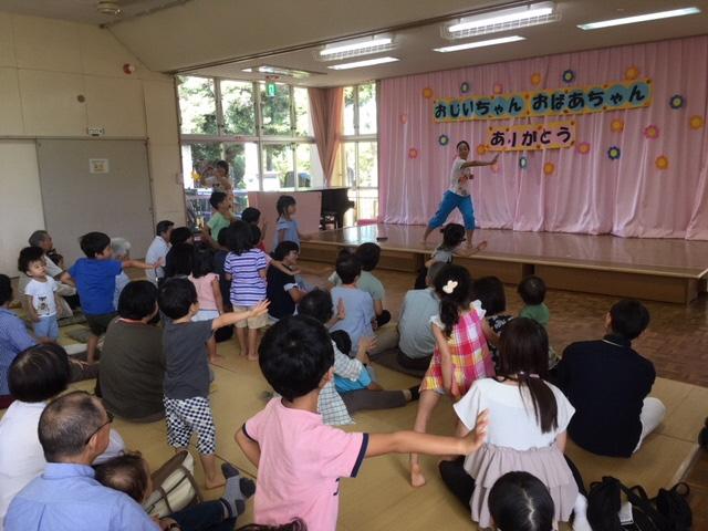 松野尾保育園敬老会でにしかんみんなの体操を実施しました!